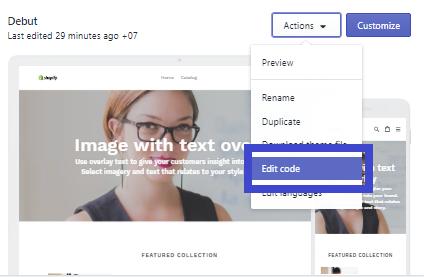 Chỉnh sửa sang ngôn ngữ Tiếng Việt trên Shopify