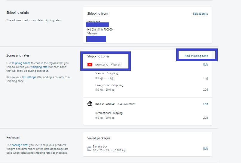 Cài đặt phương thức thanh toán và vận chuyển trên Shopify. Ảnh 10