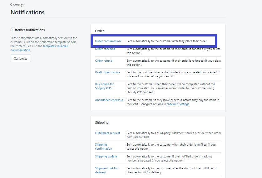 Cài đặt hệ thống email thông báo tự động trên Shopify. Ảnh 2