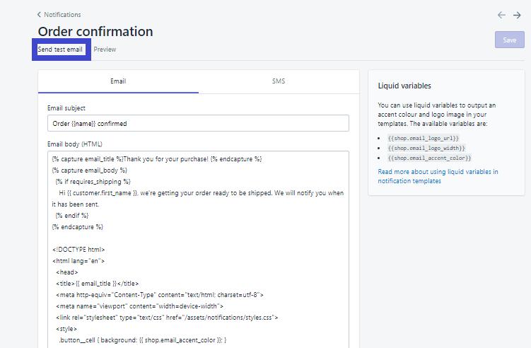 Cài đặt hệ thống email thống báo tự động trên Shopify. Ảnh 3