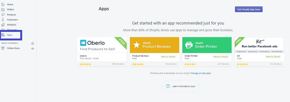 Nơi tổng hợp các ứng dụng tích hợp với web trên Shopify