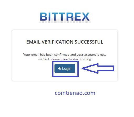 Đăng nhập tài khoản vào Bittrex