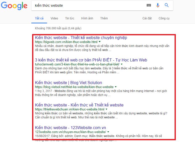 Sử dụng từ khóa để tối ưu hóa website