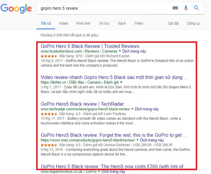 Tìm kiếm với từ khóa GoPro Hero 5 Review