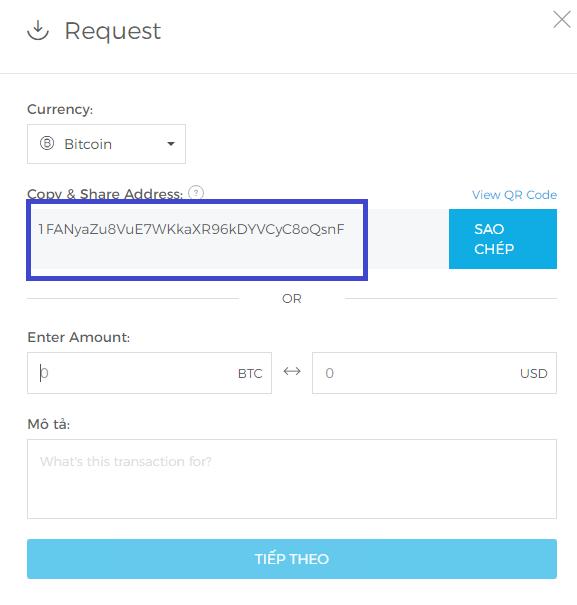 Cách lấy địa chỉ ví Bitcoin. Ảnh 2