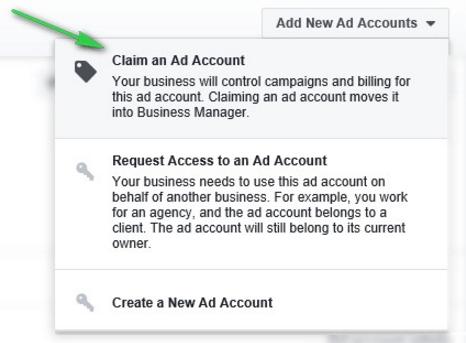 Thêm tài khoản quảng cáo từ tài khoản cá nhân