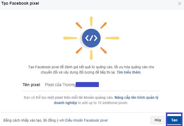 Tạo Pixel Facebook. Ảnh 3