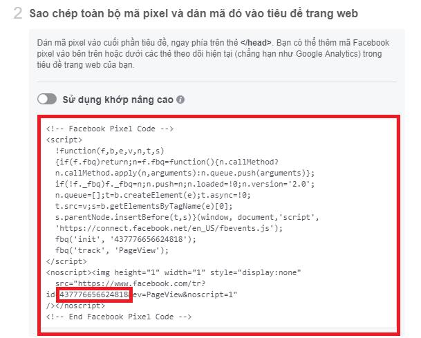 Lấy mã Pixel Facebook. Ảnh 2