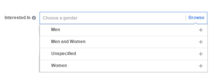 Target theo sở thích giới tính