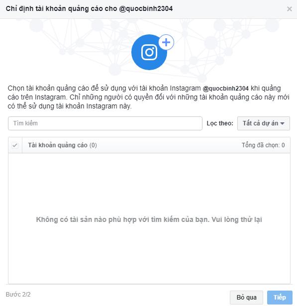 Liên kết tài khoản quảng cáo Facebook với Instagram. Ảnh 5
