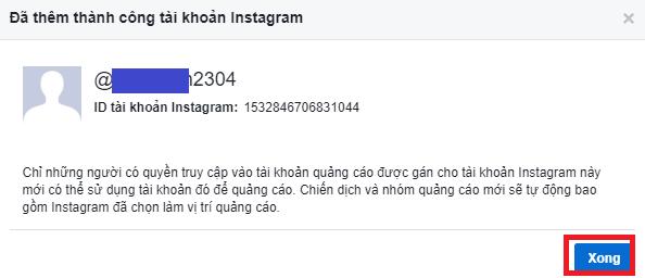 Liên kết tài khoản quảng cáo Facebook với Instagram. Ảnh 6