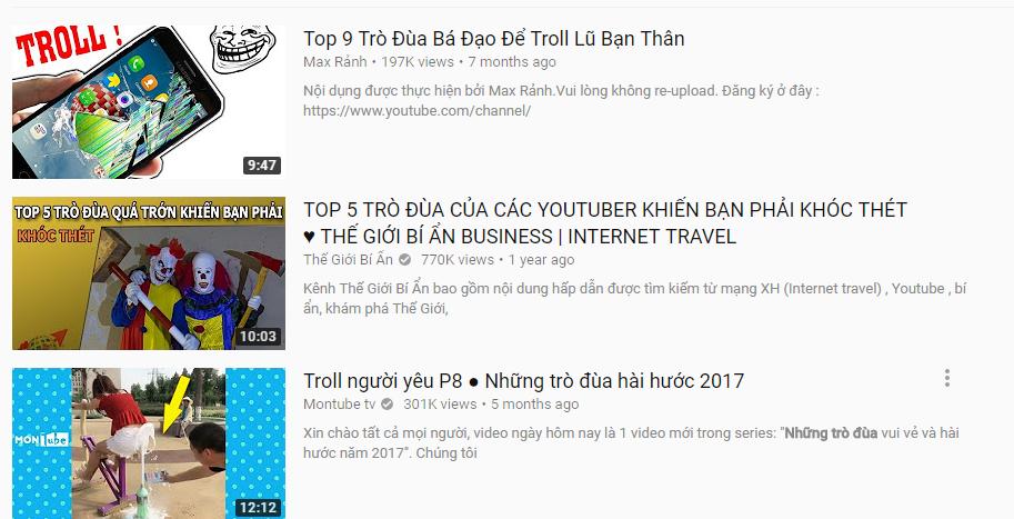 Videos đạt chuẩn SEO