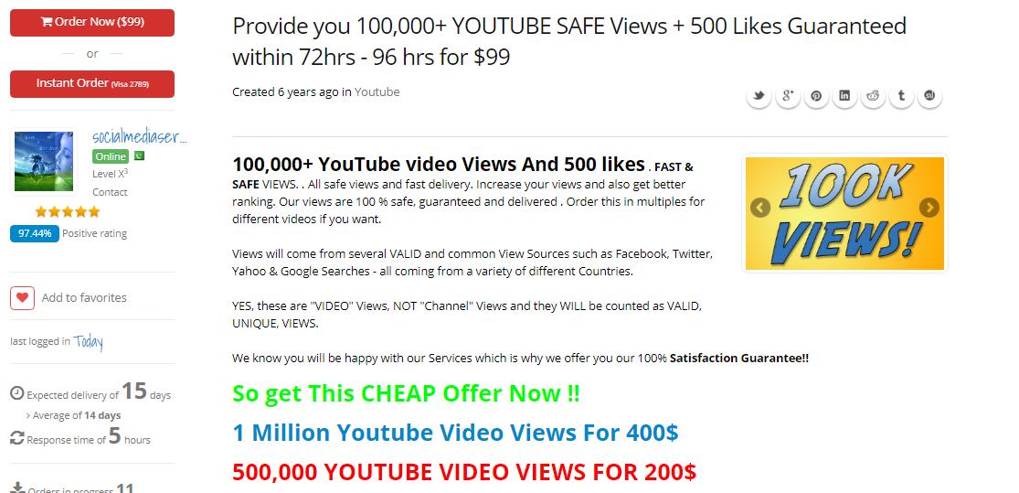 Mua View cho Video Youtube. Ảnh 3