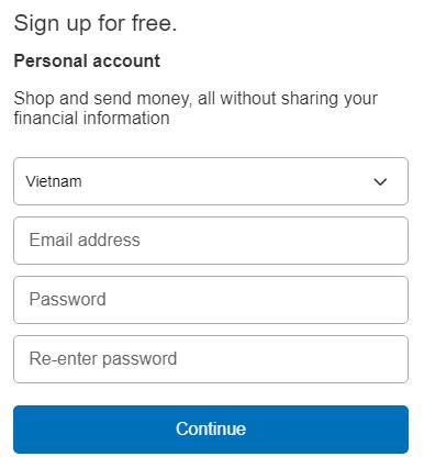 Tạo tài khoản Paypal. Ảnh 2