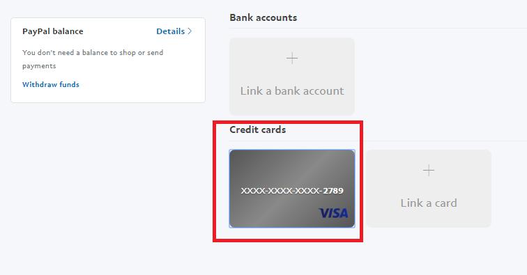 Xác minh thẻ Visa. Ảnh 2