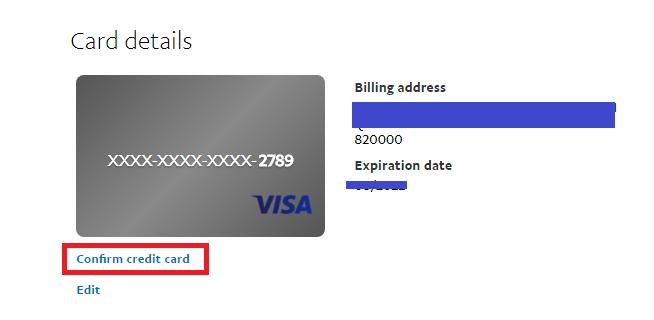 Xác minh thẻ Visa. Ảnh 3
