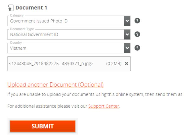 Xác thực danh tính cho tài khoản Payoneer. Ảnh 2