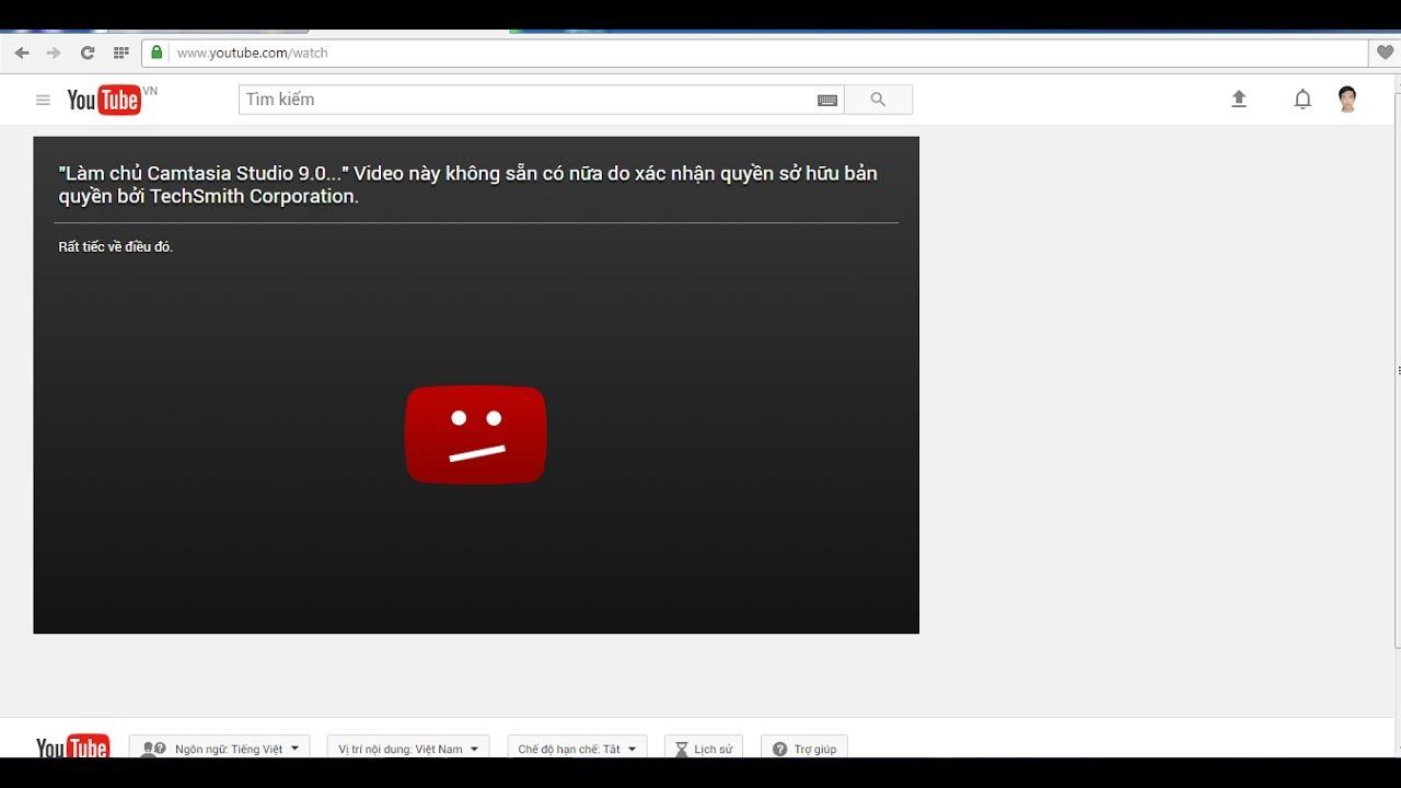 Bị cảnh báo vi phạm bản quyền nội dung trên Youtube