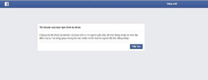 Tài khoản Facebook cá nhân bị khóa
