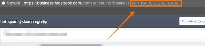 Lấy ID tài khoản Business